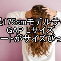 GAPのLサイズコート モデル身長にも袖丈ぴったり