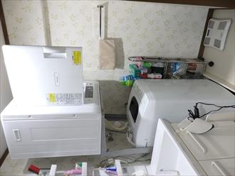 日立 衣類乾燥機 DE-N40WXと全自動洗濯機 NW-50F